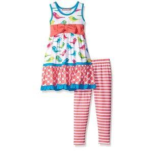Jelly the Pug Gracie Bird knit dress & leggings 6